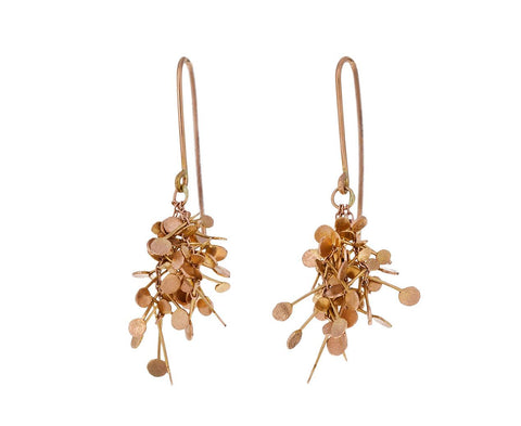 Rose Gold Dot Cluster Earrings - TWISTonline