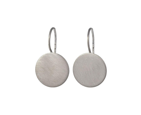 12mm White Gold Moon Drop Earrings - TWISTonline