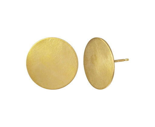15mm Yellow Gold Moon Posts - TWISTonline