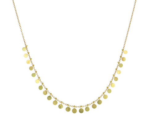Yellow Gold Medium Dots Necklace