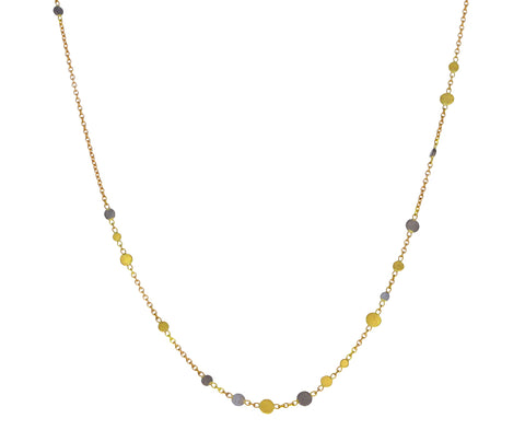 Gold and Platinum Tiered Dust Necklace