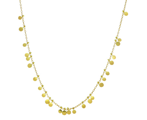 Gold Random Dots Necklace