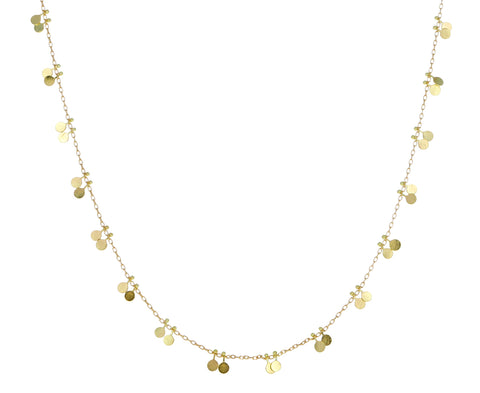 Gold Double Dots Necklace