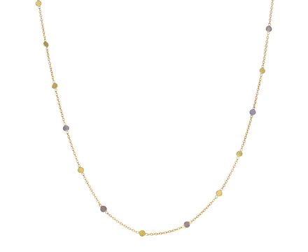 Gold and Platinum Dust Chain Necklace