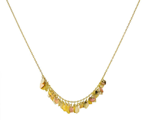 Warm Gold Geometric Cluster Necklace - TWISTonline
