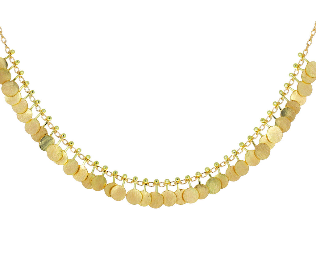 Yellow Gold Tiny Dots Necklace