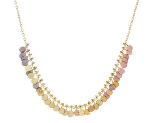 Rainbow Tiny Dots Arc Necklace - TWISTonline