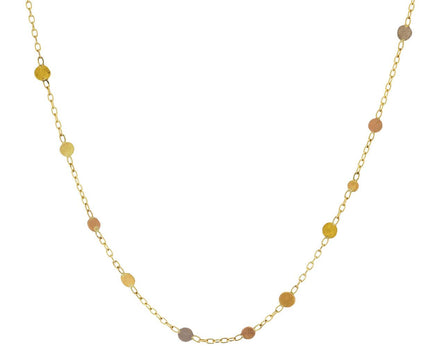 Scattered Rainbow Gold Dot Necklace - TWISTonline