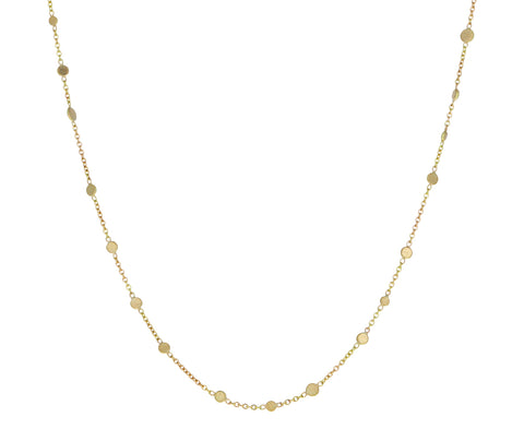 Gold Scattered Dots Necklace