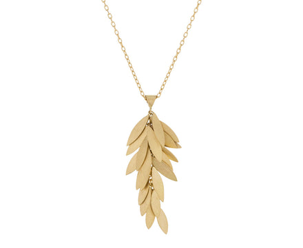 Golden Leaf Cluster Necklace - TWISTonline