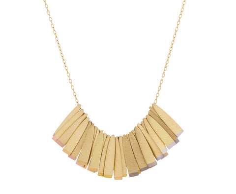Rainbow Gold Trinity Necklace - TWISTonline