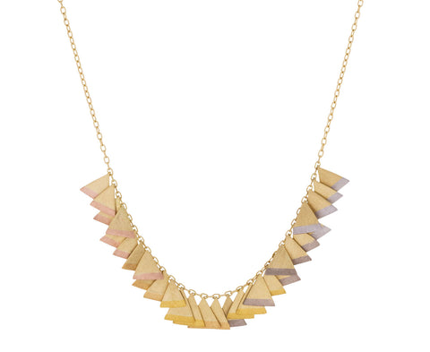 Rainbow Gold Tipped Trinity Necklace - TWISTonline