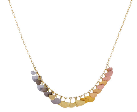 Rainbow Gold Sunrise Arc Necklace