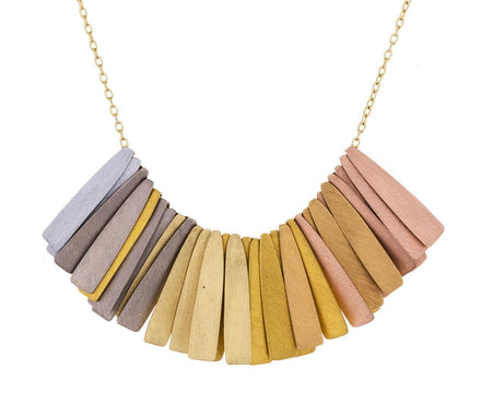 Gold and Platinum Rainbow Ray Necklace - TWISTonline
