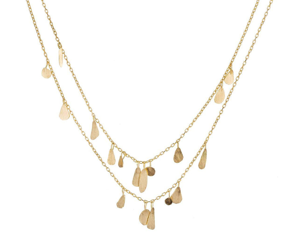 Double Strand Gold Raindrop Necklace  zoom 1_sia_taylor_gold_double_chain_droplet_necklace