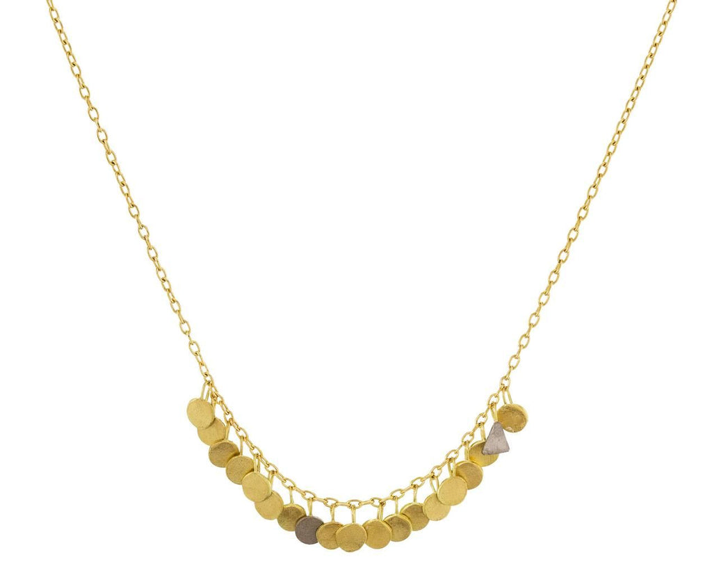 Gold and Platinum Arc Neklace  zoom 1_sia_taylor_platinum_dot_triangle_necklace