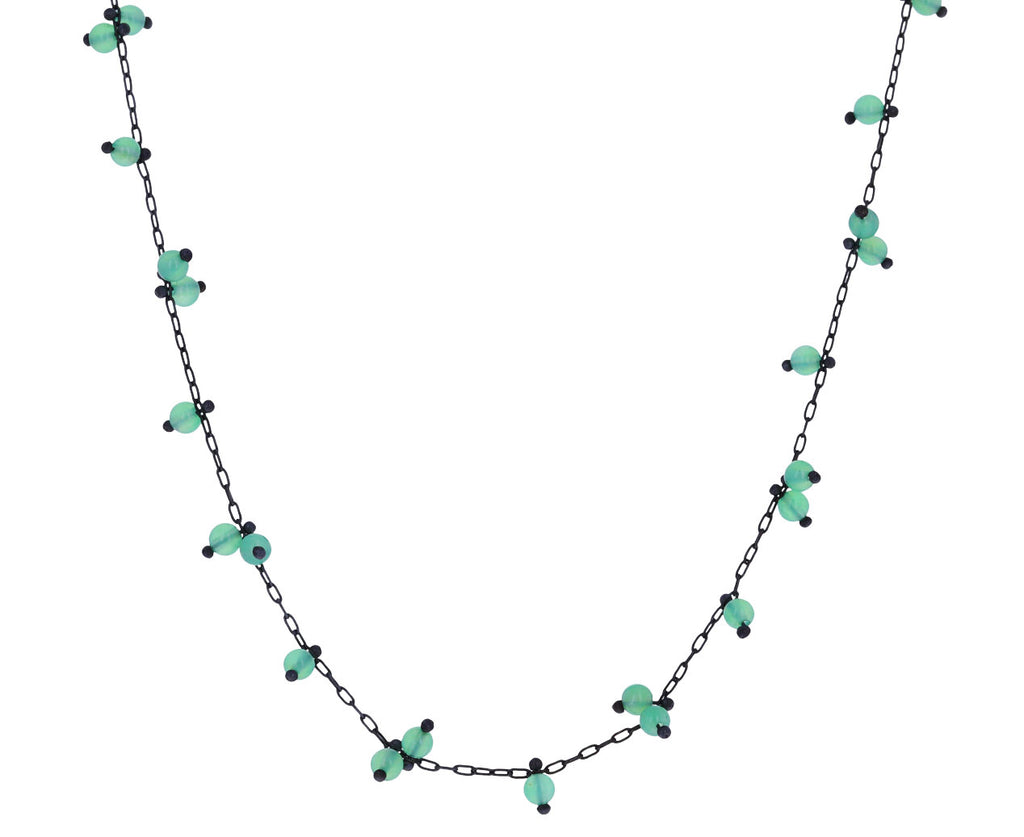 Long Chrysoprase Beaded Necklace