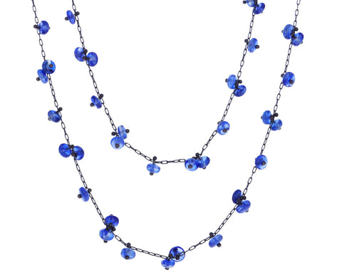 Long Kyanite Beaded Necklace