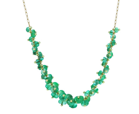 Emerald Cluster Necklace - TWISTonline