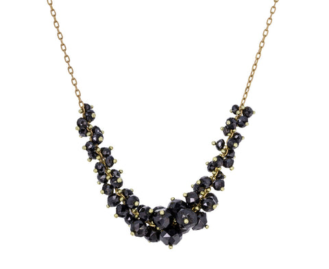 Black Diamond Cluster Necklace - TWISTonline