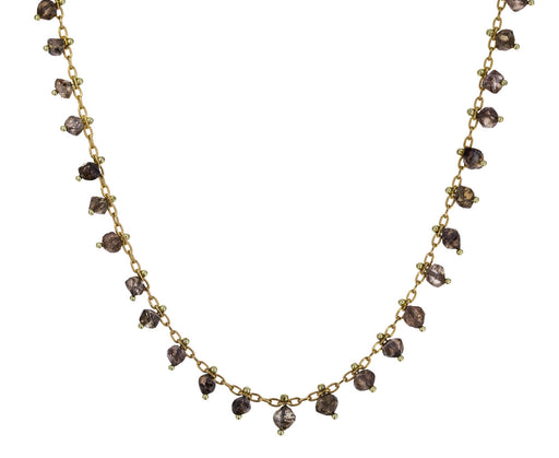 Tiny Natural Diamond Crystal Line Necklace - TWISTonline