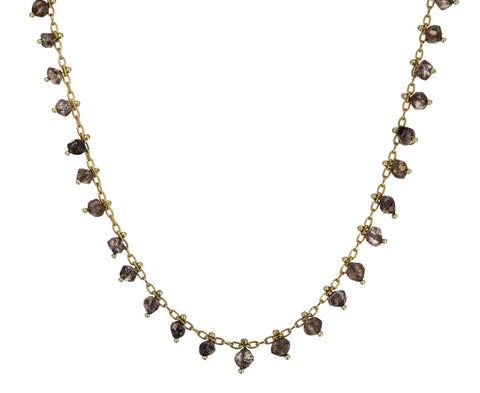 Tiny Natural Diamond Crystal Line Necklace