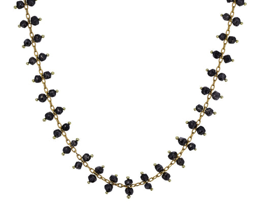 Double Black Diamond Crystal Line Necklace - TWISTonline