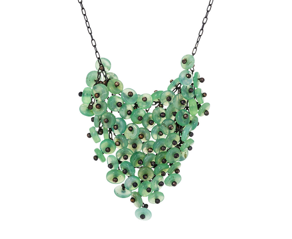 Chrysoprase Beaded Bib Necklace - TWISTonline