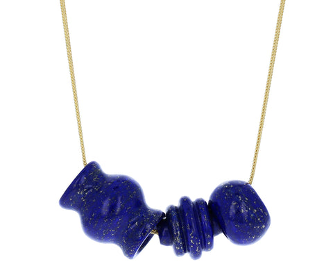 Lapis Trade Bead Necklace - TWISTonline