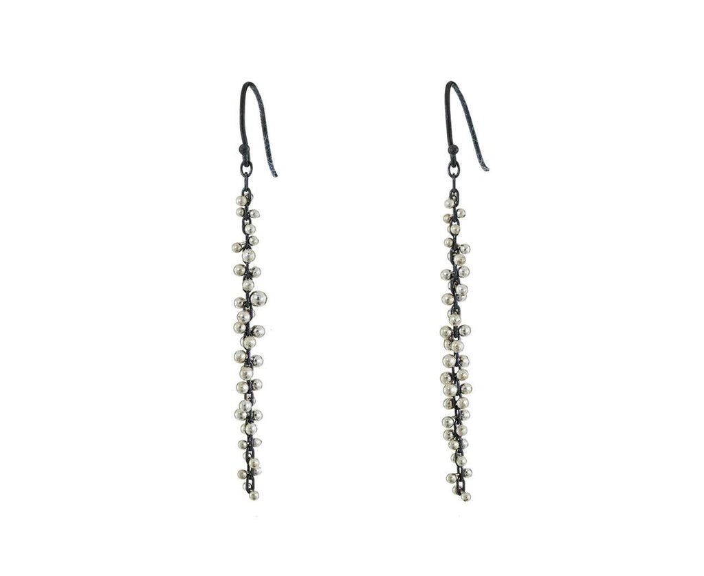 Long Silver Cluster Earrings - TWISTonline