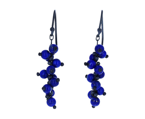 Lapis Beaded Earrings - TWISTonline