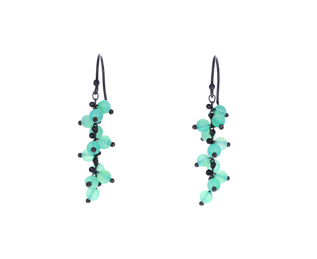 Short Chrysoprase Beaded Earrings