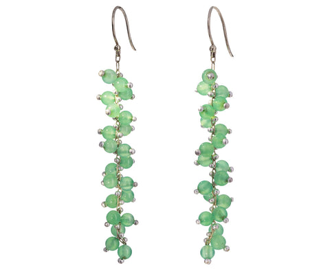 Long Chrysoprase Earrings