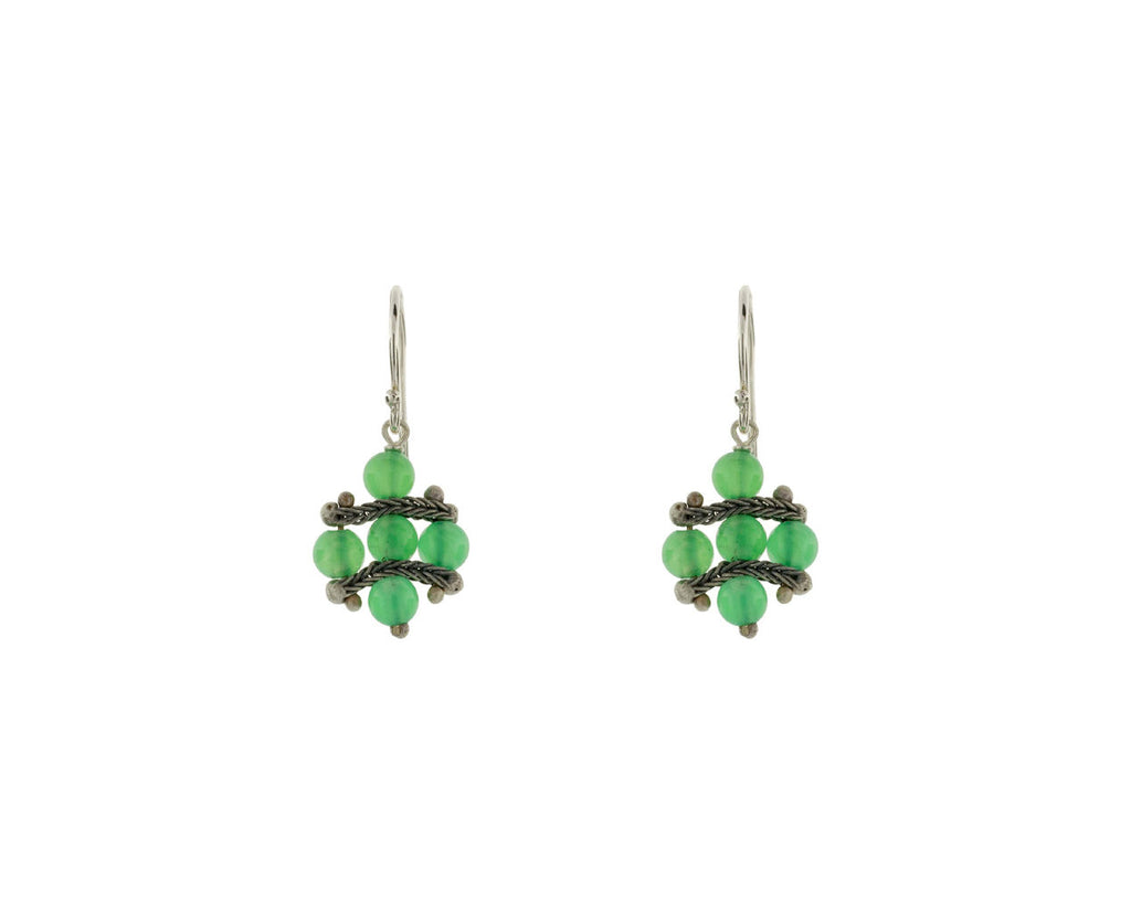 Chrysoprase and Chain Earrings - TWISTonline