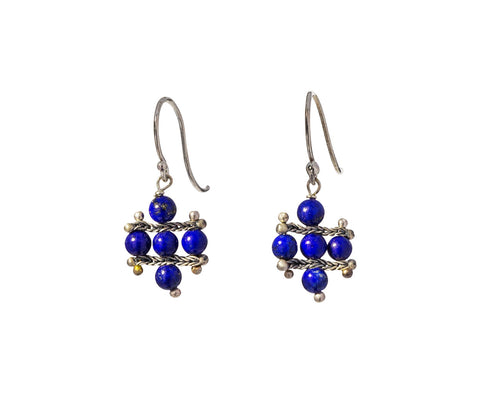 Lapis Crest Earrings