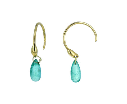 Emerald Briolette Seed Hoop Earrings - TWISTonline