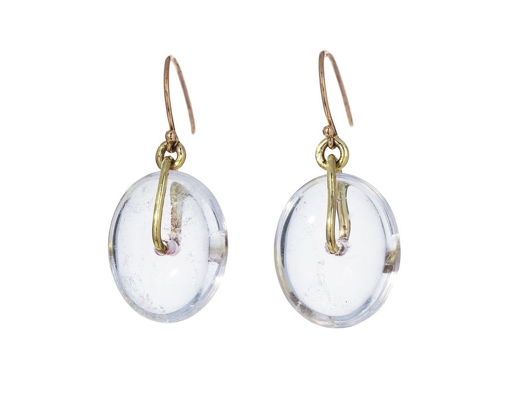 Hand Cut Rock Crystal Disc Earrings - TWISTonline