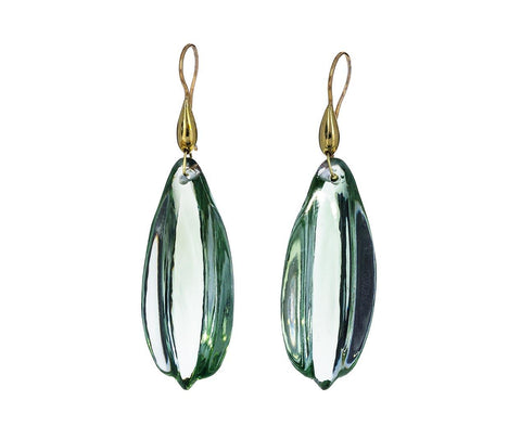 Green Amethyst Carved Stone Earrings zoom 1_ten_thousand_things_green_amethyst_leaf_earrings