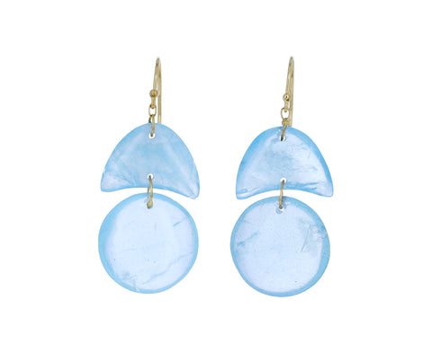 Aquamarine Arrowhead Earrings - TWISTonline