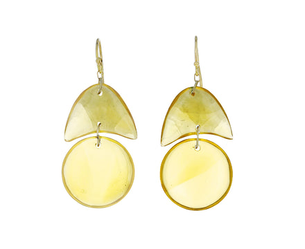 Citrine Arrowhead Earrings - TWISTonline