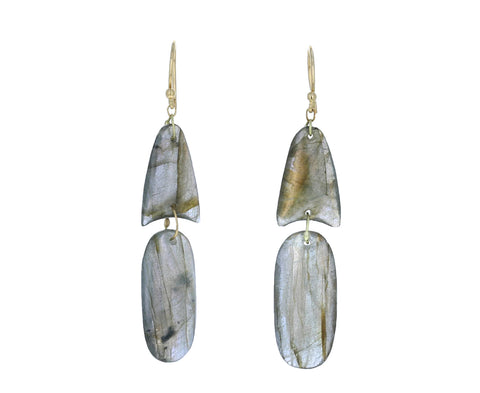 Labradorite Arrowhead Earrings - TWISTonline