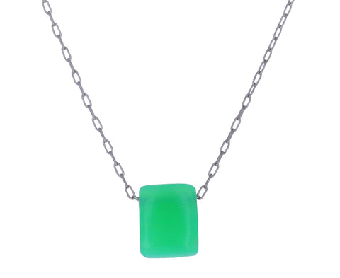 Chrysoprase Chiclet Necklace