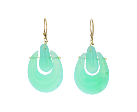 Chrysoprase O'Keeffe Earrings