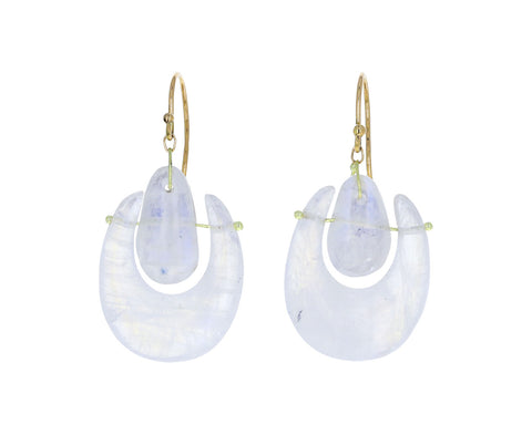Moonstone O'Keeffe Earrings