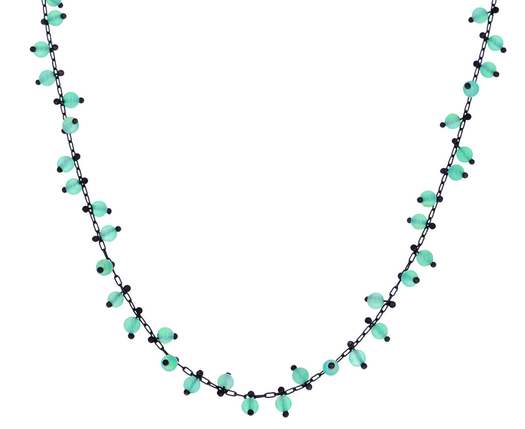 Chrysoprase Beaded Choker Necklace