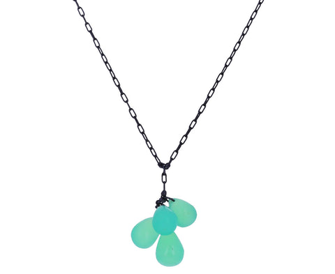 Chrysoprase Cluster Pendant Necklace