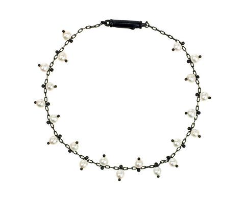 Studded Pearl Bracelet on Black zoom 1_ten_thousand_things_bracelet