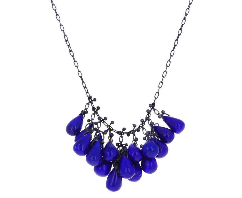 Lapis Cluster Pendant Necklace