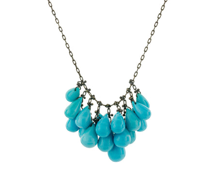 Turquoise Cluster Necklace - TWISTonline
