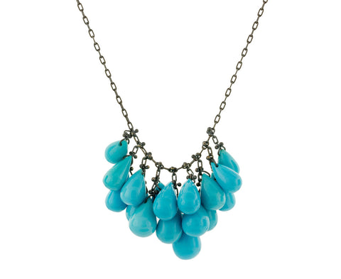 Turquoise Cluster Necklace zoom 1